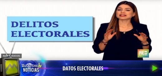DELITOS ELECTORAES